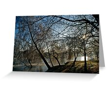 Frosty morning at Woodland Waters, Ancaster Lincolnshire Greeting Card