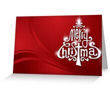 Typography Xmas tree Greeting Card