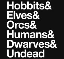 Hobbits Elves Orcs Humans Dwarves Undead by aizo