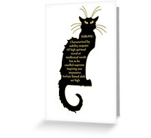 sublime black french kitty cat Art Nouveau Greeting Card