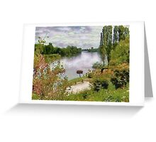 The River Dordogne at Eynesse Greeting Card