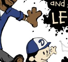 Clementine and Lee Sticker