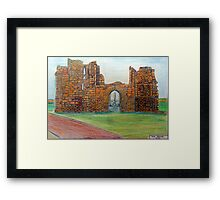 372 - TYNEMOUTH PRIORY CHURCH - DAVE EDWARDS - COLOURED PENCLS - 2012 Framed Print