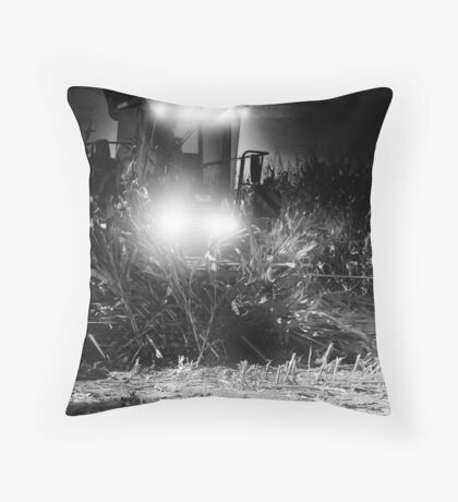 Corn chopping at night ? Throw Pillow