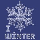 I LOVE WINTER T-shirt by ethnographics