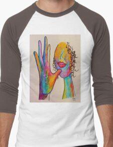MOTHER - American Sign Language ASL Men's Baseball ¾ T-Shirt