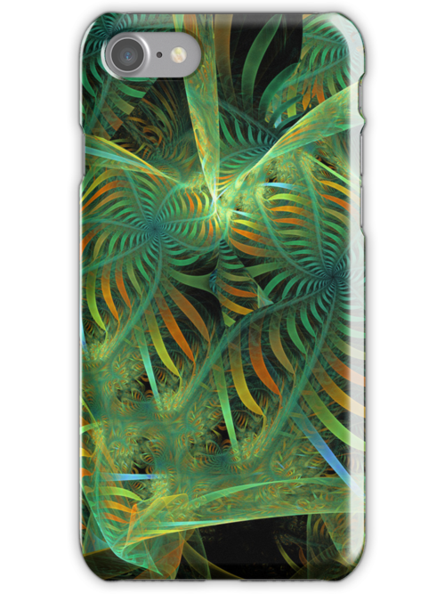 Starry ribbons, abstract fractal case by walstraasart