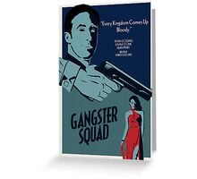Gangster Squad Poster Greeting Card