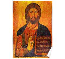 icon of the savior pointillism Poster