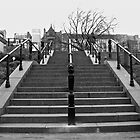 Steps going up to Princes Street in Edinburgh by Aaron McKenzie