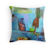 studio implements in landscape Throw Pillow