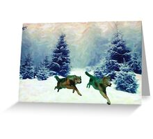 wolf race 3 Greeting Card