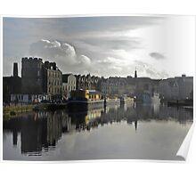 Leith Harbor, Scotland Poster