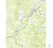 USGS TOPO Map New Hampshire NH Lisbon 329625 1967 24000 by wetdryvac