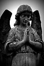 Stone Angel Praying by Ed Sweetman