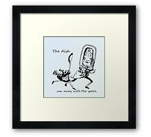 Vintage Dish and the Spoon Framed Print