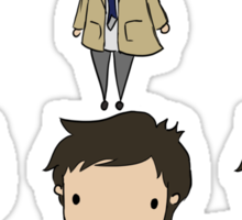The Many Faces of Castiel Sticker
