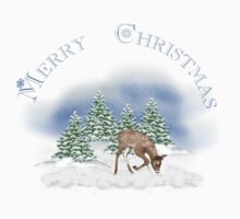 Merry Christmas Rudolph Kids Tee