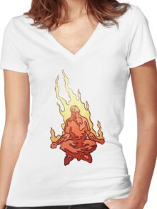 Acid Meditation Women's Fitted V-Neck T-Shirt