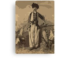Kurdish chief, full-length portrait, standing, facing front Canvas Print