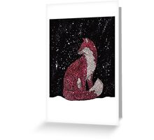 Leafy Fox in the Snow Greeting Card