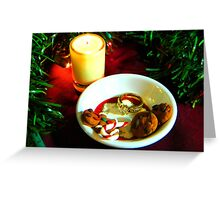 Christmas Cookie Candle V Greeting Card