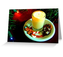 Christmas Cookie Candle VII Greeting Card