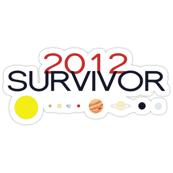 2012 SURVIVOR - Sticker by SallySparrowFTW