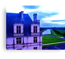 Chambord with Canal Canvas Print