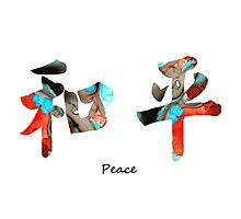 Chinese Symbol - Peace Sign 11 Photographic Print