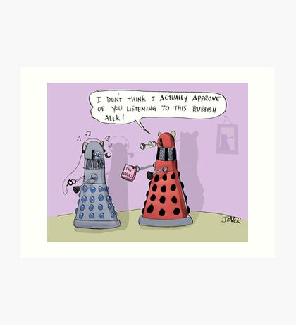 dalek who Art Print