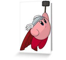 Thunder God Kirby Greeting Card