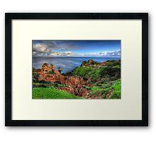 Clifftop Ravine Lagos Framed Print