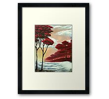 Warm Snow Framed Print