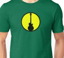 Electric Guitar Black Yellow Unisex T-Shirt