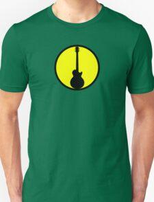 Electric Guitar Black Yellow T-Shirt