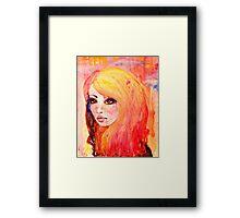 Blonde and Blue Framed Print