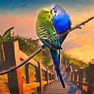 love birds and majestic landscape by Adam Asar