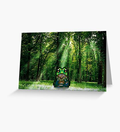The frog in the florest Greeting Card