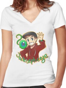 Jacksepticeye - Top of the Mornin Women's Fitted V-Neck T-Shirt