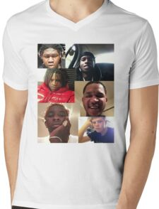 ASAP ROCKY, YOUNG THUG, YUNG LEAN, FREDO SANTANA, YOUNG CHOP, CHIEF KEEF Mens V-Neck T-Shirt