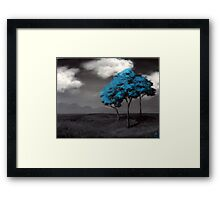 Singled Out: Blue Framed Print
