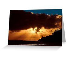 PACIFIC CITY SUNSET Greeting Card