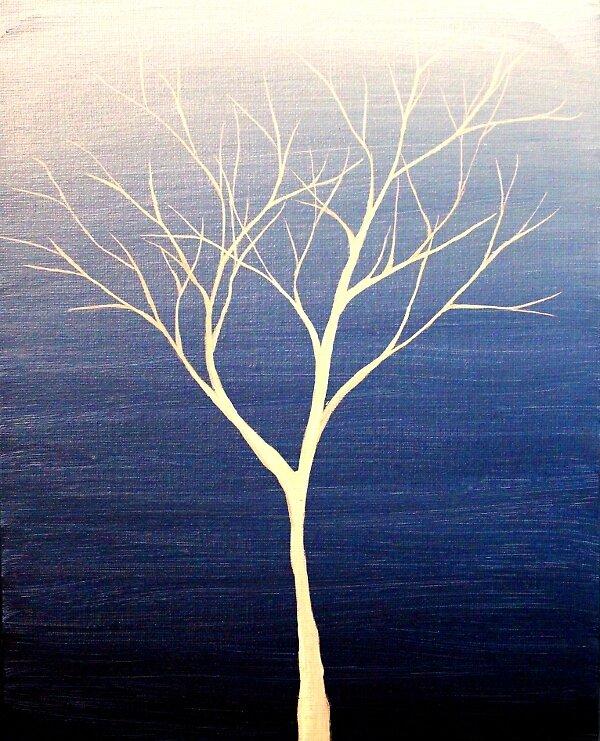 Tiny Tree White by Erin Scott