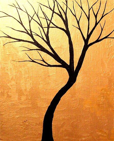 Tiny Tree Gold by Erin Scott