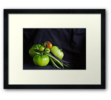 Tomatoes and Beans Framed Print
