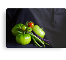 Tomatoes and Beans Metal Print