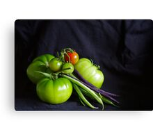Tomatoes and Beans Canvas Print