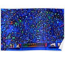 Rockefeller Center base of Christmas tree Poster