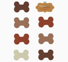 Lil Bones {Small} Shades of Brown Sticker Set by offleashart
